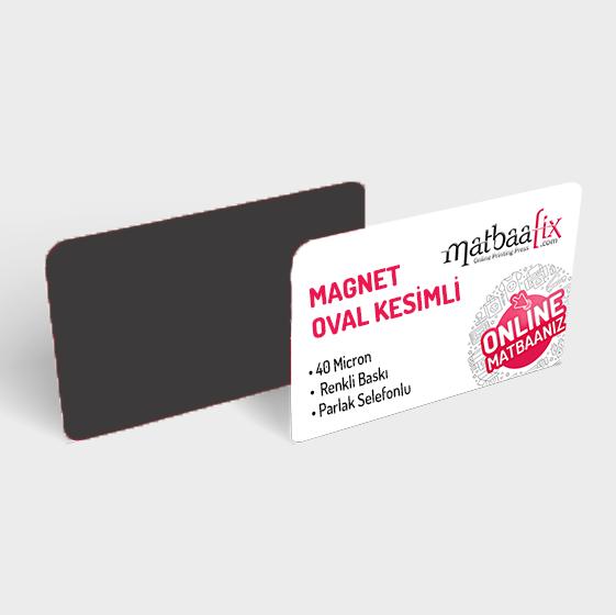 6.8 x 4.8 cm 60 Mikron Magnet - Renkli Baskılı - Parlak Selefonlu - Özel Kesimli